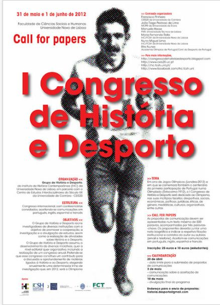 CFP: I Congress of History and Sport