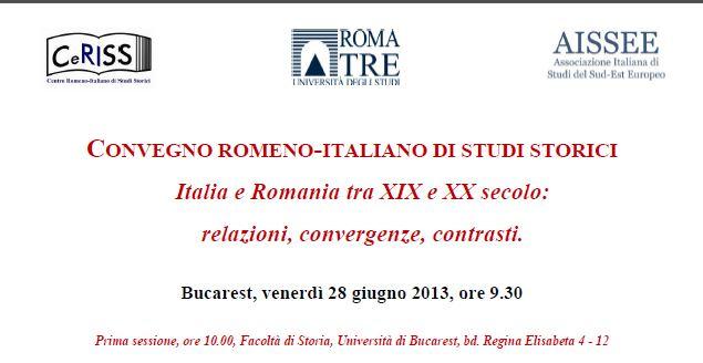 CONVEGNO ROMENO-ITALIANO DI STUDI STORICI