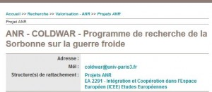 Sorbonne Cold War History Project