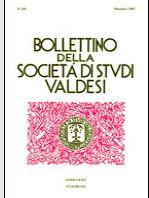 Bollettino della Società di Studi Valdesi