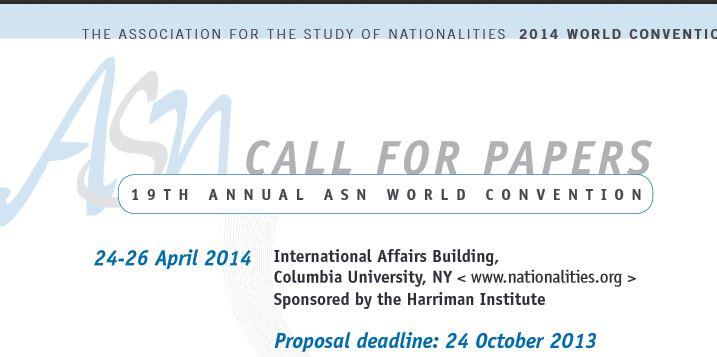 CfP: 19TH ANNUAL ASN WORLD CONVENTION
