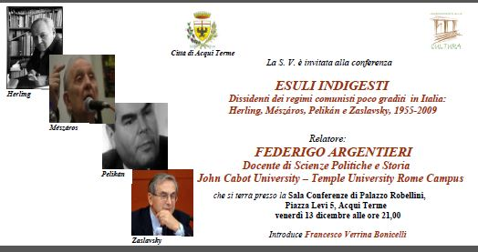 ESULI INDIGESTI. DISSIDENTI DEI REGIMI COMUNISTI POCO GRADITI IN ITALIA