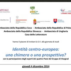 Identità centro-europea:  una chimera o una prospettiva?