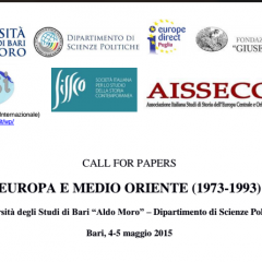 CfP: EUROPA E MEDIO ORIENTE (1973-1993)